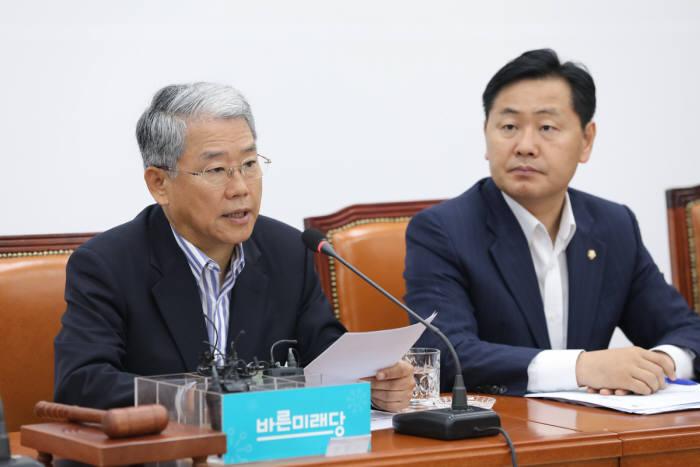 바른미래당 김동철 비대위원장과 김관영 원내대표
