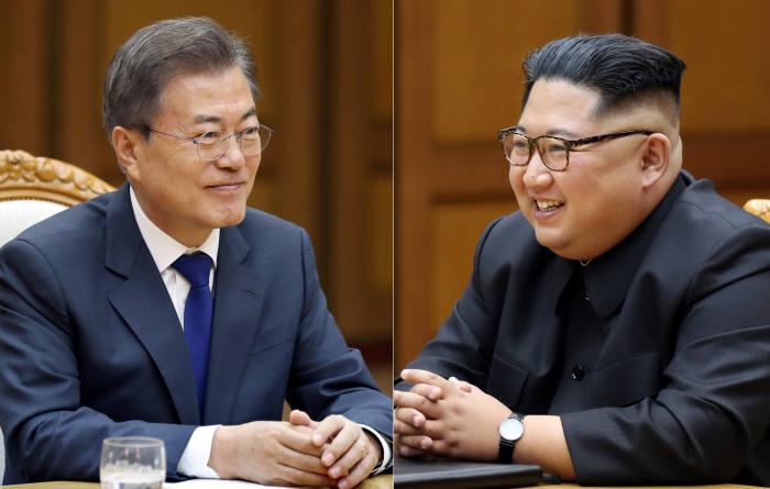 문재인 대통령과 김정은 국무위원장.