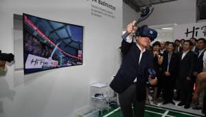 이낙연 총리, 아시안게임 5G 체험관 방문…ICT 기반 경제협력 힘 실어