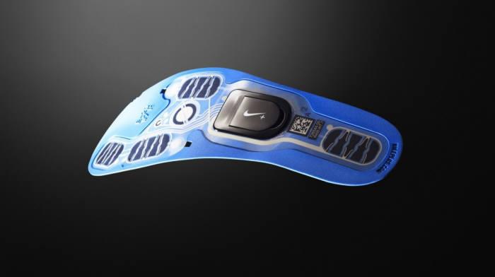 나이키가 선보인 스마트신발 내 핵심 부품 모형도.
