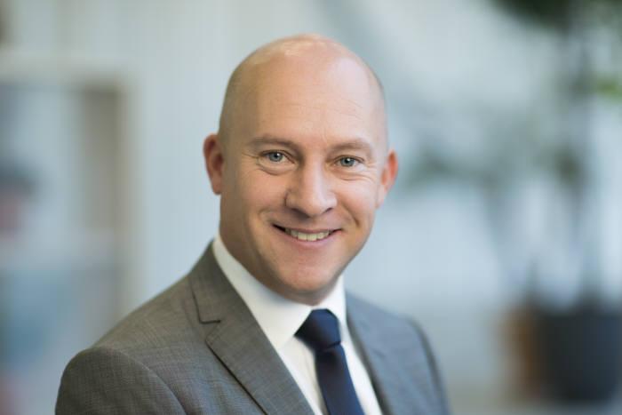 패트릭 요한슨 에릭슨LG CEO는 21일 서울 가산동 에릭슨LG R&D센터에서 5G 시장 대응 현황과 사업 전략을 발표했다.
