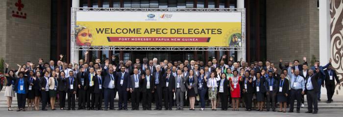 2018년 APEC 기후심포지엄 참가자 기념 촬영.