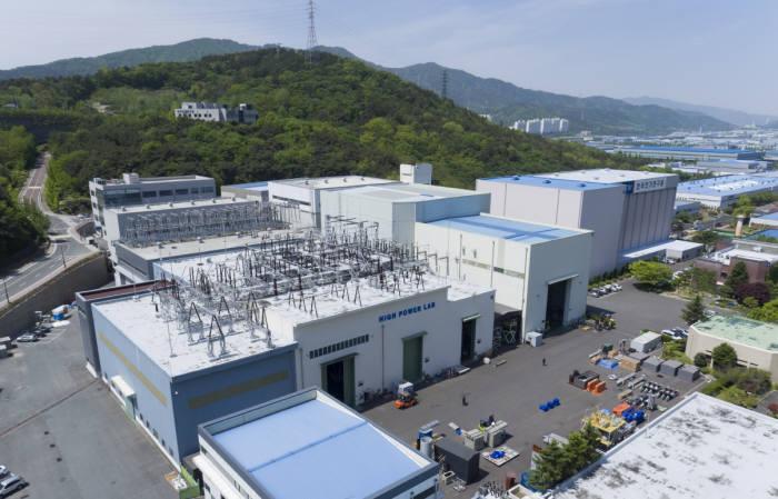중전기기업계 시험적체 문제를 해소한 KERI 대전력 시험인증 설비.
