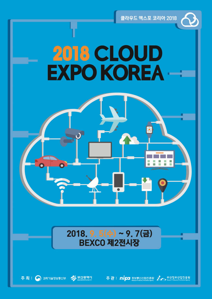 클라우드 엑스포 코리아 2018 포스터