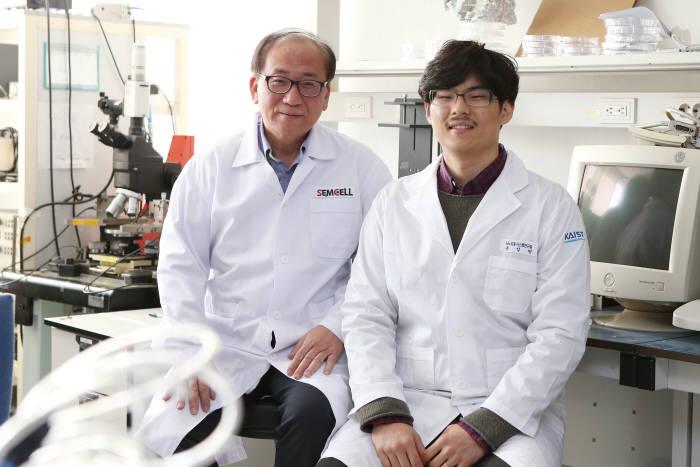 조영호 KAIST 바이오 및 뇌공학과 교수(사진 왼쪽)와 윤성현 연구원(오른쪽)