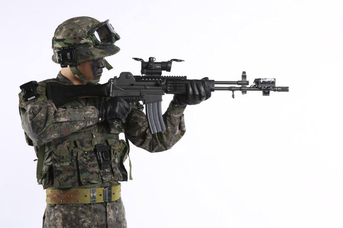 육군이 여단급 부대가 동시에 훈련할 수 있는 과학화 훈련체계를 구축했다. 육군 제공