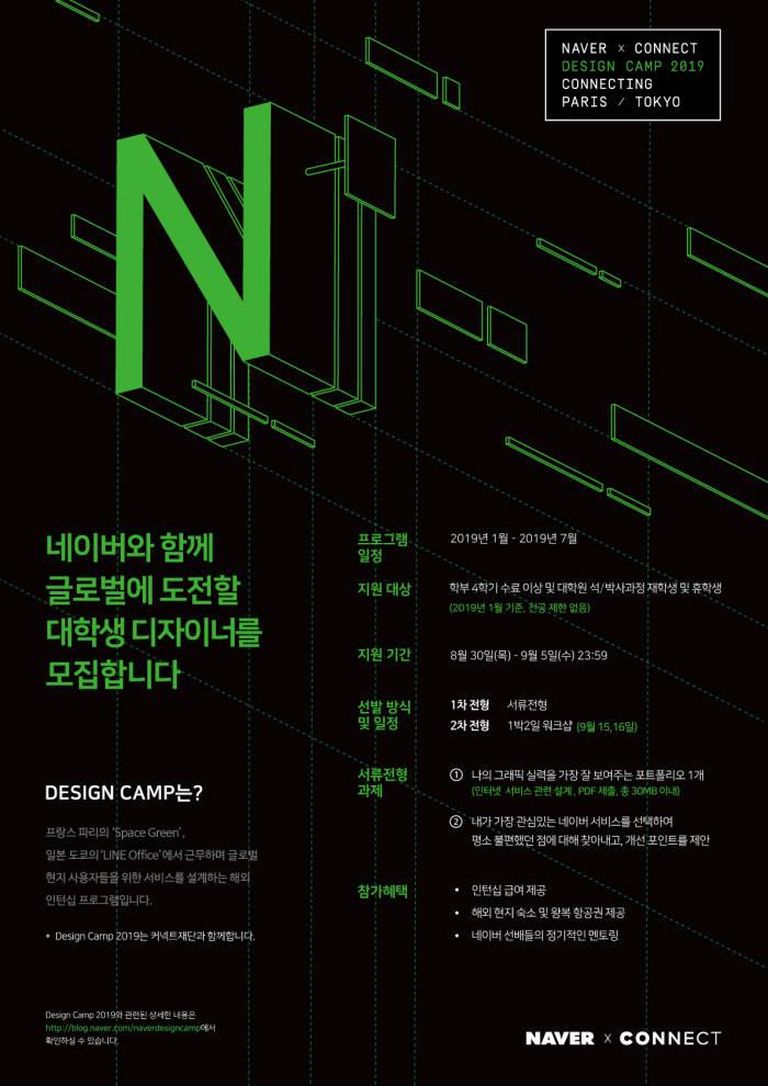 네이버, 글로벌 인턴십 프로그램 '디자인 캠프 2019' 모집