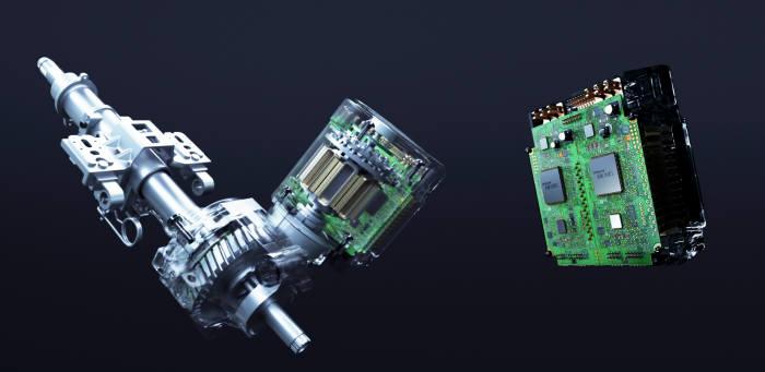 현대모비스가 개발한 자율주행차용 신개념 조향장치와 제어기 이중화 설계 이미지 (제공=현대모비스)