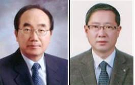 최오길 인팩 대표(좌), 박장현 호룡 대표(우)