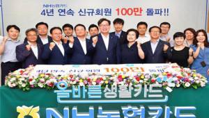 NH농협카드, 4년 연속 신용카드 신규회원 100만좌 달성