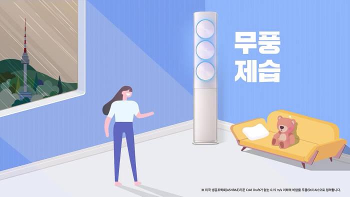 삼성전자가 유튜브에 송출한 무풍에어컨 디지털 광고 영상. 오픈API를 기반으로 개인 맞춤형 마케팅을 실현했다.