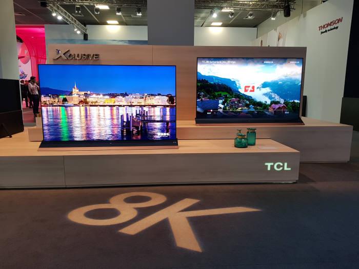TCL이 IFA 2018에서 선보인 8K TV
