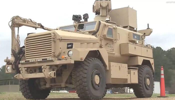 미군이 공개한 라드보가 탑재된 차량<직접 캡처>