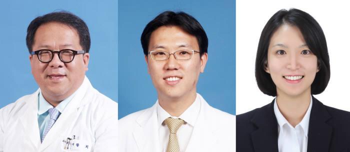 (왼쪽부터) 분당서울대병원 소아청소년과 황희, 김헌민, 최선아 교수
