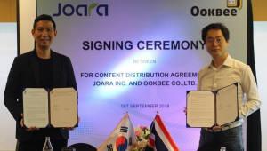 조아라, 태국 콘텐츠 플랫폼 '욱비'와 웹소설 공급계약 체결
