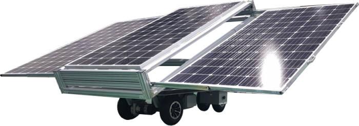 위에너지가 개발한 이동형 태양광 발전시스템.