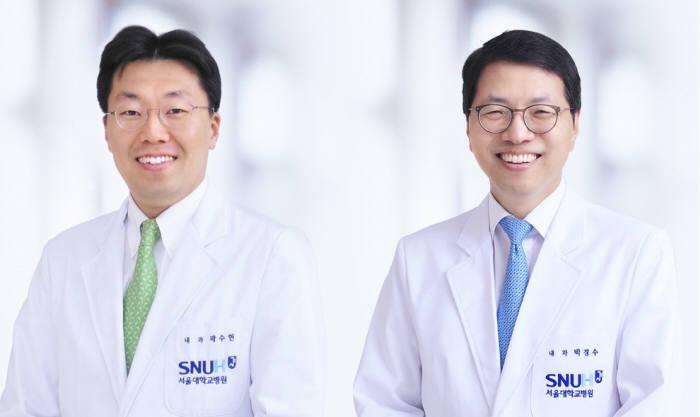곽수헌, 박경수 서울대병원 내분비내과 교수(왼쪽부터)