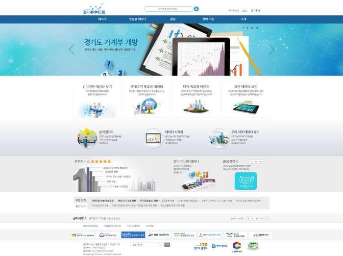 경기데이터드림 홈페이지.