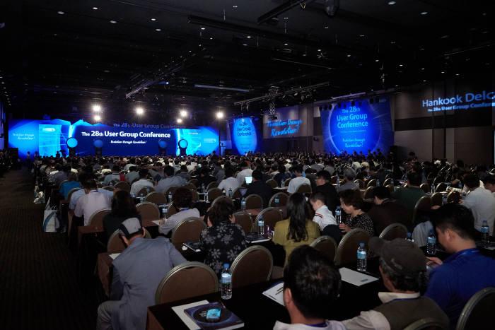 제28회 유저그룹콘퍼런스 행사장 전경