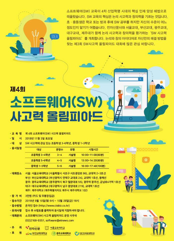 [알림]제4회 소프트웨어사고력 올림피아드, 11월 3일 개최