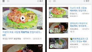 네이버 모바일 검색, 동영상 검색 환경 개선