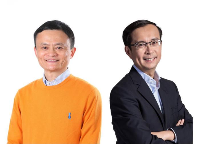마윈 알리바바그룹 회장(왼쪽)과 장융 알리바바 최고경영자(CEO)