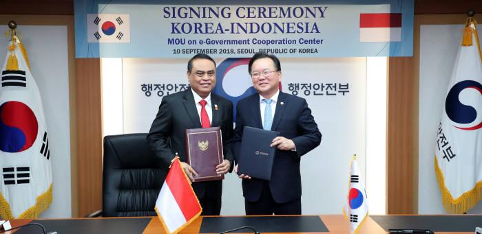 한-인니 '전자정부협력센터' 운영 협약