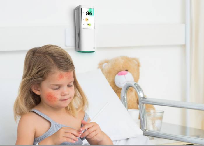 센코가 개발한 센서 기반 실내공기질 측정기 브리즈 제품 이미지. (사진=센코)