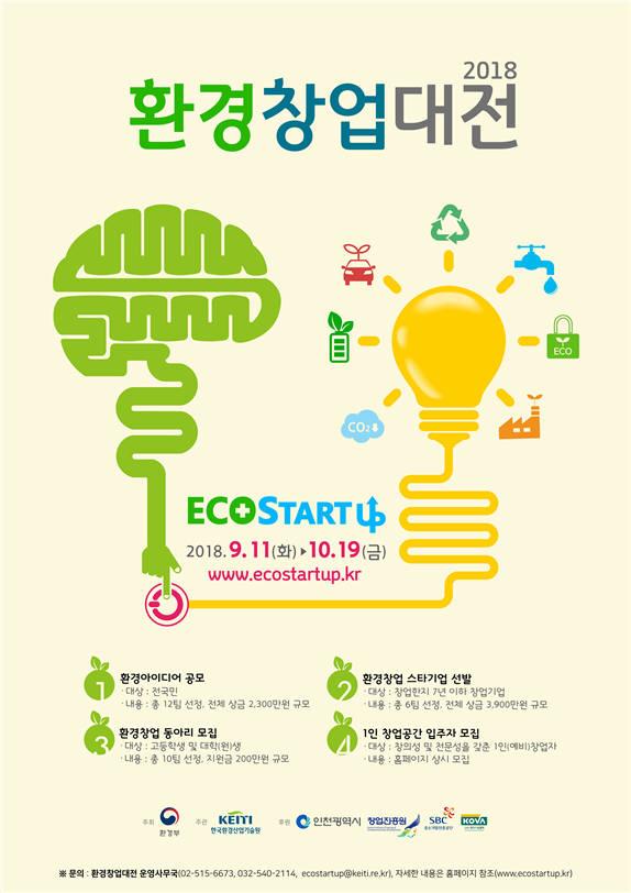 2018 환경창업대전 포스터. [자료:한국환경산업기술원]