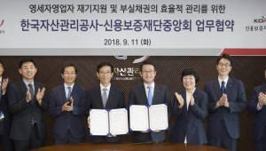 캠코, 신용보증재단중앙회와 영세자영업자 재기지원 나서
