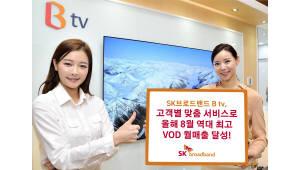 SK브로드밴드, 올해 8월 역대 최고 VoD 월매출 달성
