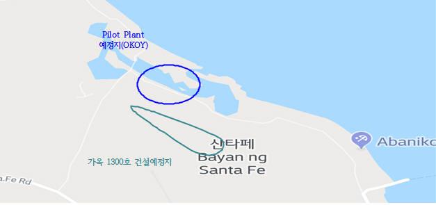 수상태양광 설치예정지 산타페시 OKOY지역. [자료:한국수자원공사]