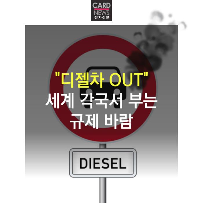 """[카드뉴스]""""디젤차 OUT"""" 세계 각국서 부는 규제 바람"""