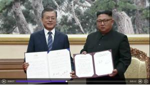 [3차 남북정상회담]문재인-김정은 9월 평양공동선언' 합의문에 서명