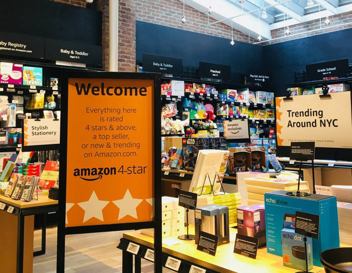 아마존이 뉴욕 소호거리에 새로 문 연 상점 Amazon 4-Star 출처: 아마존 블로그