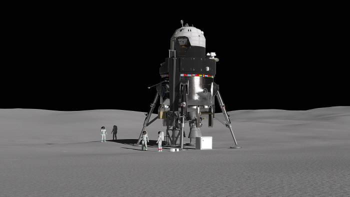 록히드 마틴이 공개한 달착륙선 콘셉트 일러스트. 출처:록히드 마틴