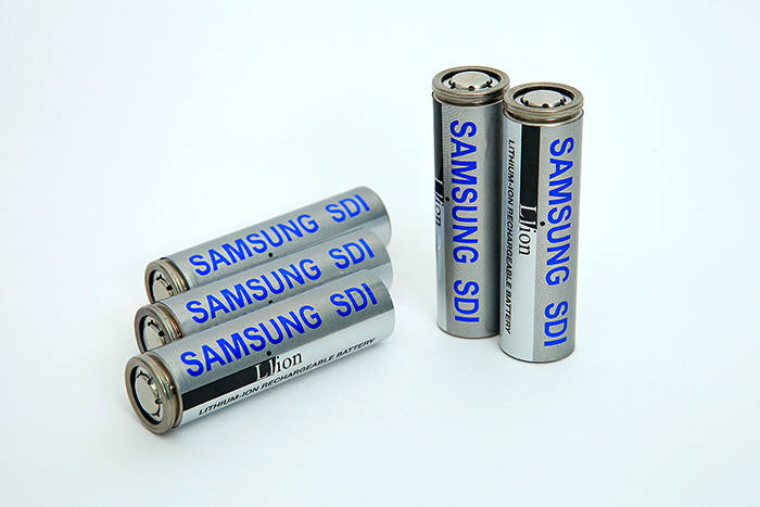 삼성SDI 원통형 배터리. (사진=삼성SDI)