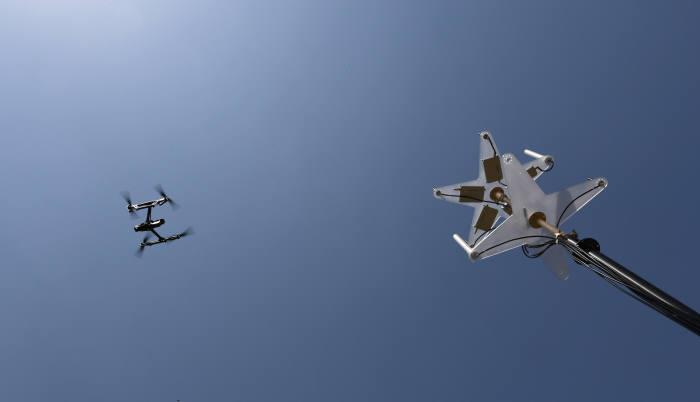 한국테러방지시스템이 드론 방어체계 시연회를 연다. 김동욱기자 gphoto@etnews.com