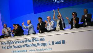 IPCC 48차 총회 '지구온난화 1.5℃ 특별보고서' 만장일치 채택
