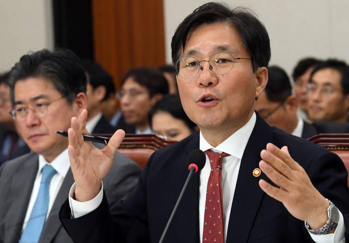 2018 국정감사, 산업통상자원부 성윤모 장관 선서