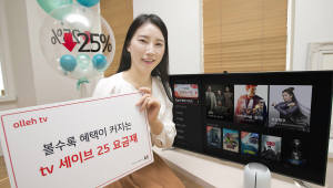 KT, 모든 VoD 25% 할인하는 '올레 tv 세이브 25' 출시