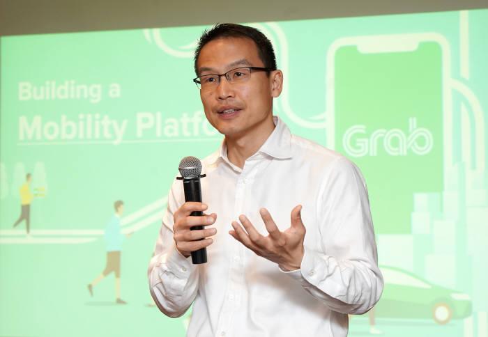 밍 마 그랩 사장이 11일 한국을 방문, 기자간담회를 통해 그랩 비전을 소개했다.(사진=그랩 제공)