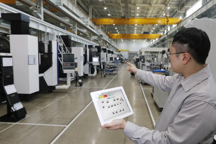 스마트팩토리 구축 성공기업으로 손꼽히는 현대위아의 제조 현장.