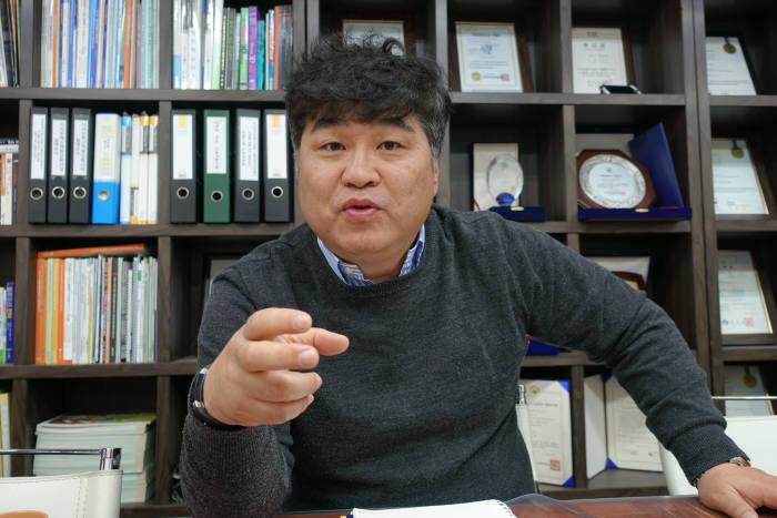 김덕근 마로로봇테크 대표.