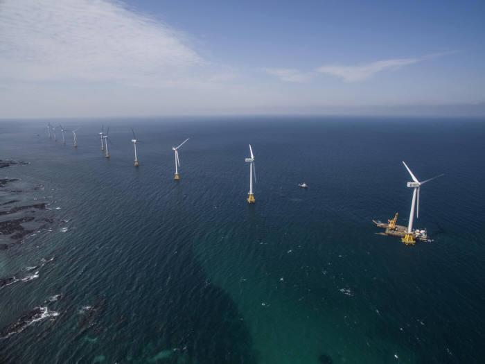두산중공업이 풍력발전기를 공급한 제주 탐라해상풍력단지. [자료:두산중공엄]