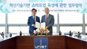 BNK금융, UNIST와 동남권 창업기업 육성 협약 체결