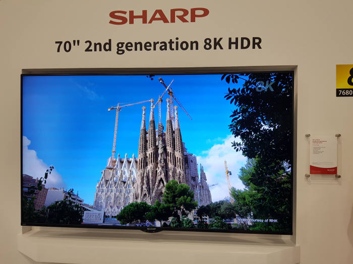 샤프가 IFA 2018에서 공개한 2세대 8K TV