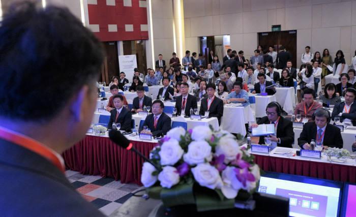 31일 베트남 풀만 하노이호텔에서 코리아 정보통신기술(ICT) 데이 2018 행사가 열리고 있다. SW산업협회 제공
