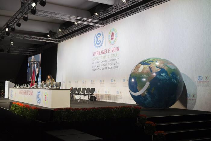 제22차 유엔기후변화협약 당사국총회(COP22)가 열린 모로코 마라케시 총회장. [사진:환경부 제공]