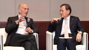 """올메르트 전 이스라엘 총리, """"한국 대기업, 새로운 시대를 맞을 준비가 됐습니까"""""""